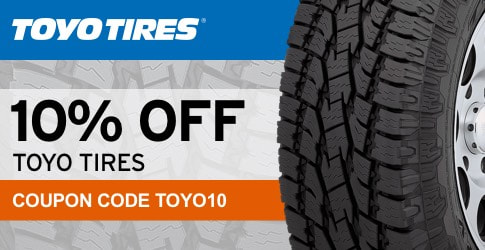10% off Toyo tires March, 2018