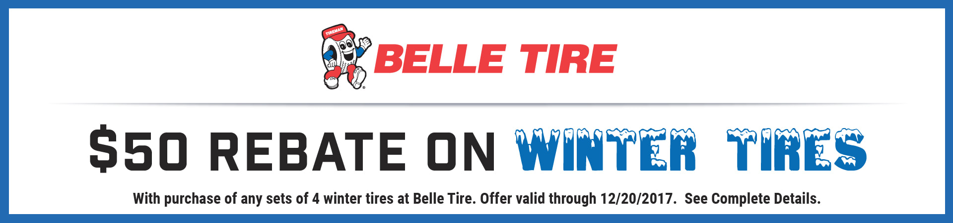 Belle Tire Winter Tire Rebate