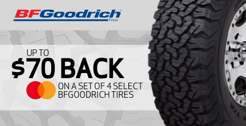 BF Goodrich tire rebate for March and April 2020