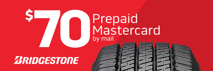 Bridgestone tire rebate for February 2020