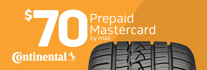 Continental tire rebate for February 2020