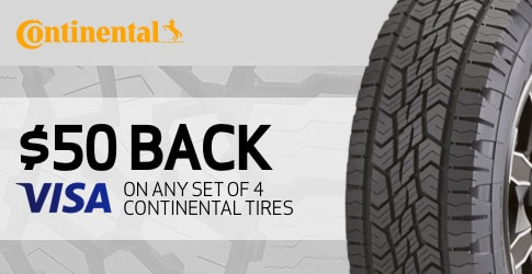 Continental tire rebate January 2019