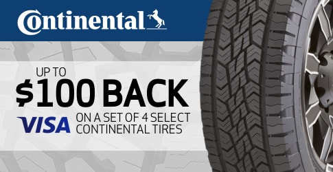 Continental tire rebate for July and August 2019
