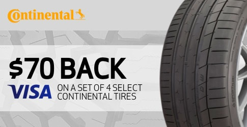 Continental tire rebate for June 2019