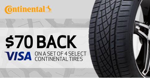 Continental tire rebate for November 2020 with TireBuyer.com