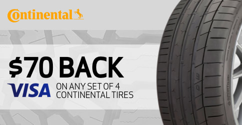 Continental tire rebate for March 2019