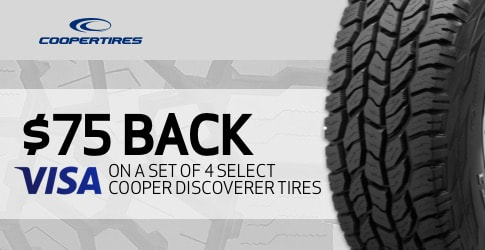 Cooper Discoverer tire rebate for March 2019