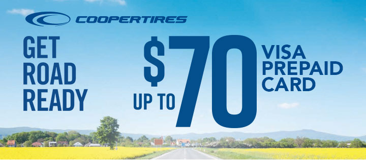 Cooper tire rebate for April 2020 with Discount Tire Direct