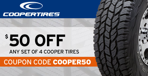 Cooper Tires $50 coupon code