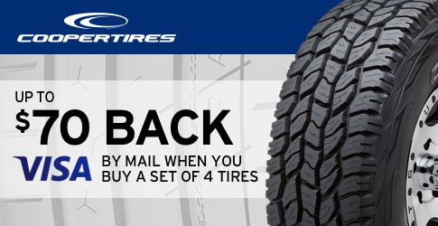 Cooper Tires discount March, 2018