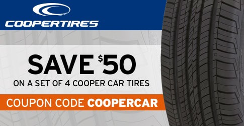 Cooper car tires coupon code for February, 2018