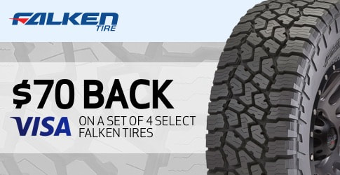 Falken tire rebate for September 2018