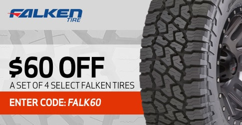 Falken tires coupon code for February 2019