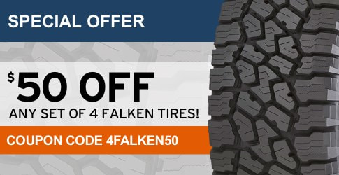 Falken tires coupon code for February, 2018