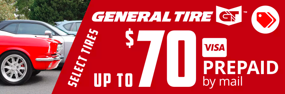 General Tire rebate for March 2021 with Discount Tire Direct