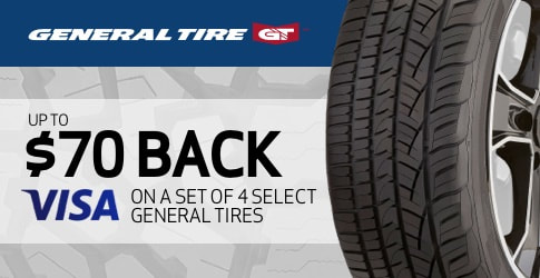 General Tire rebate for March 2021 with TireBuyer.com