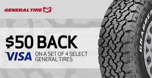 General tire rebate for September 2018