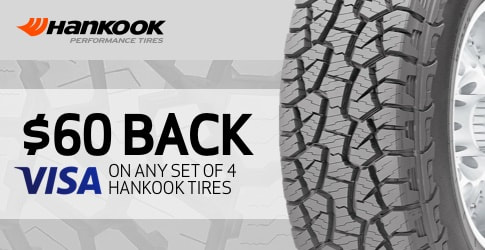 Hankook tire rebate for November 2018