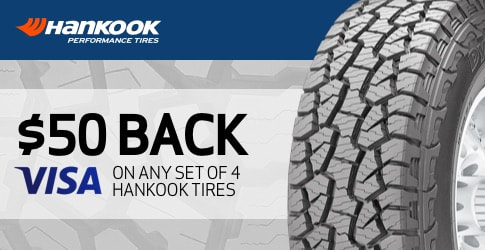 Hankook tire rebate for October 2018