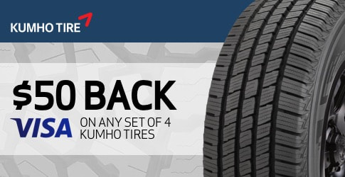 Kumho tire rebate for October 2018