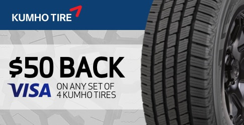 Kumho tire rebate for August and September 2019