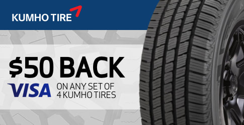 Kumho tire rebate for April 2019