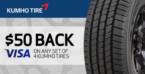 Kumho tire rebate for February 2020