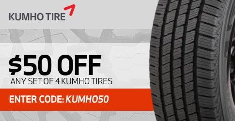 Kumho tires coupon code for February 2019