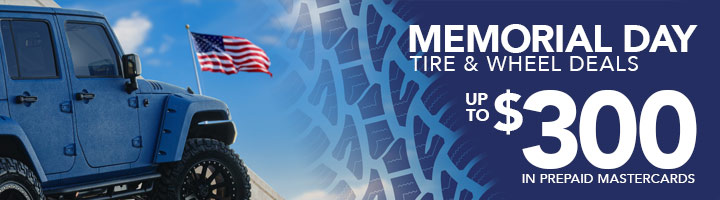 Discount Tire Memorial Day 2018 tire and wheel sale