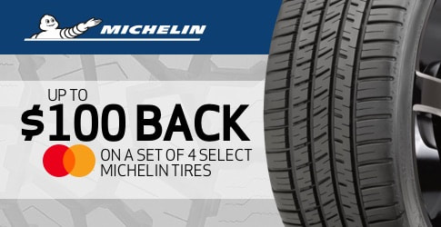 Michelin tire rebate for August and September 2019