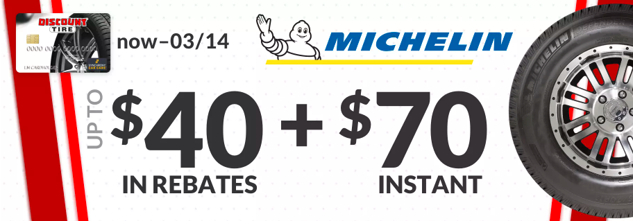 Michelin tire rebate for March 2021 with Discount Tire Direct