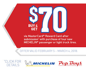Michelin Rebate with Pep Boys