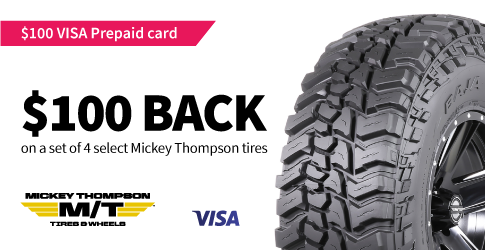 Mickey Thompson tire rebate for April 2021
