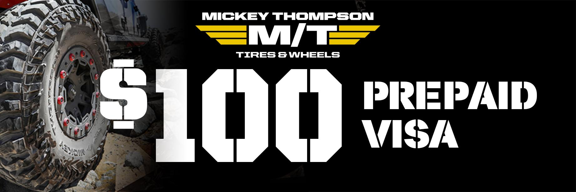 Mickey Thompson October 2020 tire rebate with Discount Tire Direct