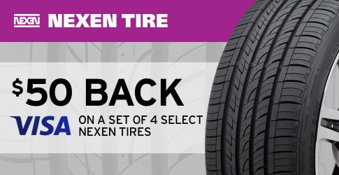 Nexen tire rebate May 2018
