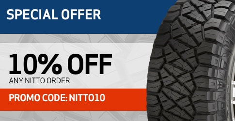 10% off Nitto tires coupon code for September 2018