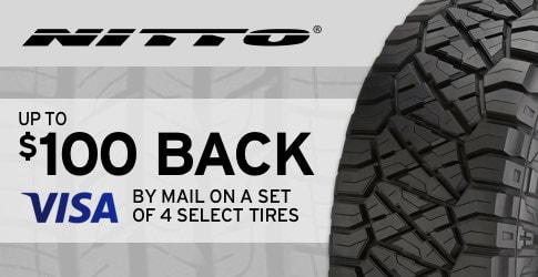 Nitto tire rebate for June 2018