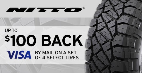 Nitto tire rebate for August 2018