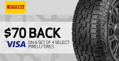 Pirelli tire rebate for November 2020 with TireBuyer.com