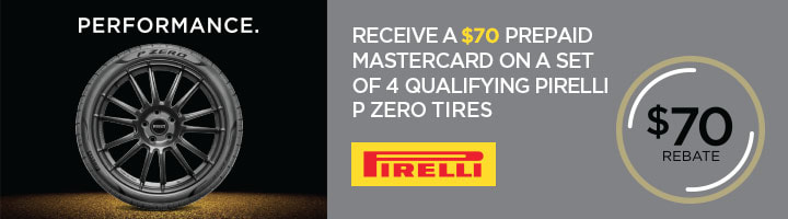 Pirelli tire rebate with Discount Tire for September 2018
