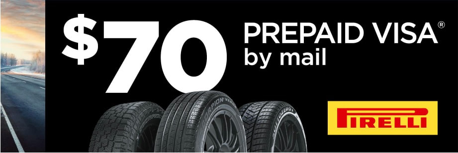 Pirelli winter tire rebate for November 2020 with Discount Tire direct