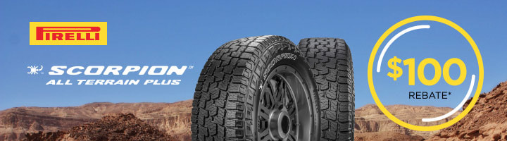 Pirelli Scorpion All Terrain Plus rebate for September and October 2018