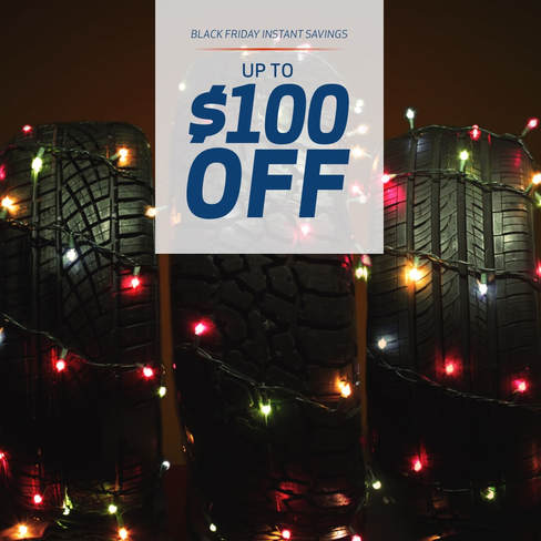 Black Friday tire deals, up to $100 off