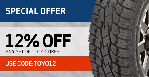 Toyo tires coupon code for February 2019