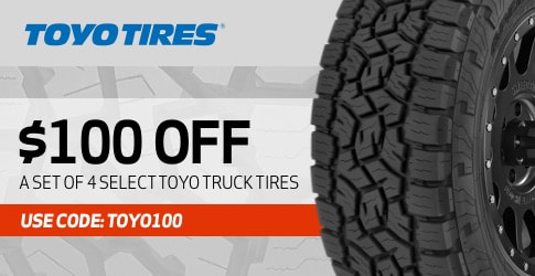 Toyo truck tire discount code for September 2020 with TireBuyer.com