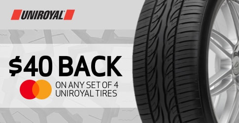 Uniroyal tire rebate for October 2018