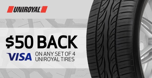 Uniroyal tire rebate for August 2019
