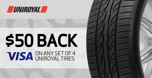 Uniroyal tire rebate for February 2020