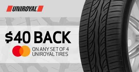 Uniroyal tire rebate for October 2019