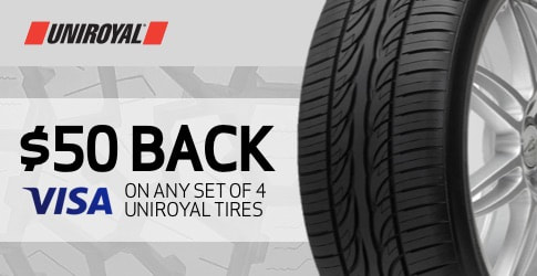 Uniroyal tire rebate for June and July 2019